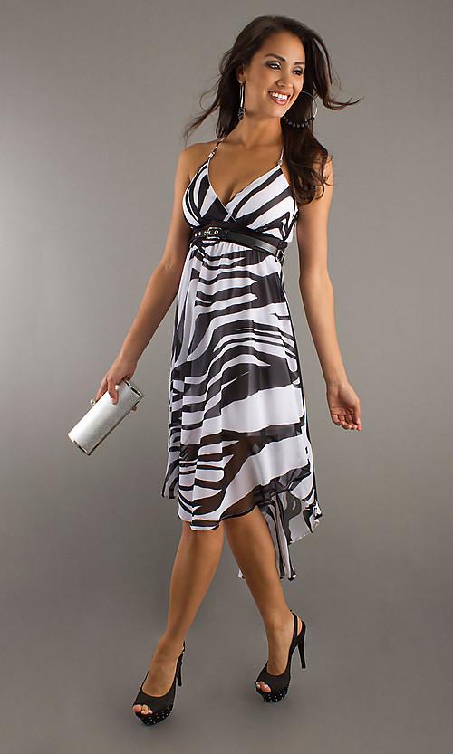 Zebra Print Prom Dresses Under $100